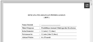 RPP PJOK K13 Revisi dan KTSP SD