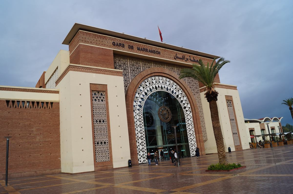 estacion de Marrakech de tren