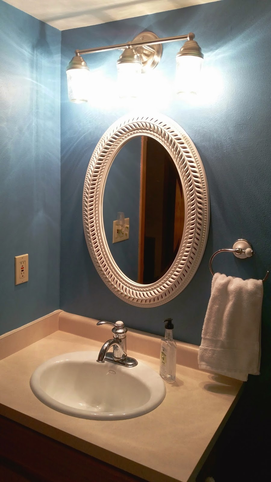 tiny bathroom update before and after