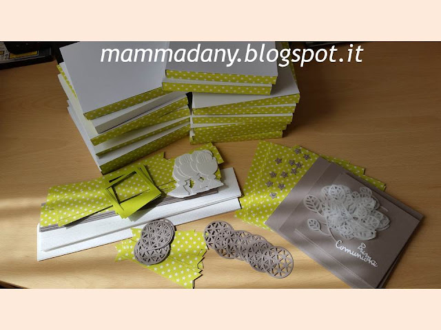 materiali per shadow box per Prima Comunione