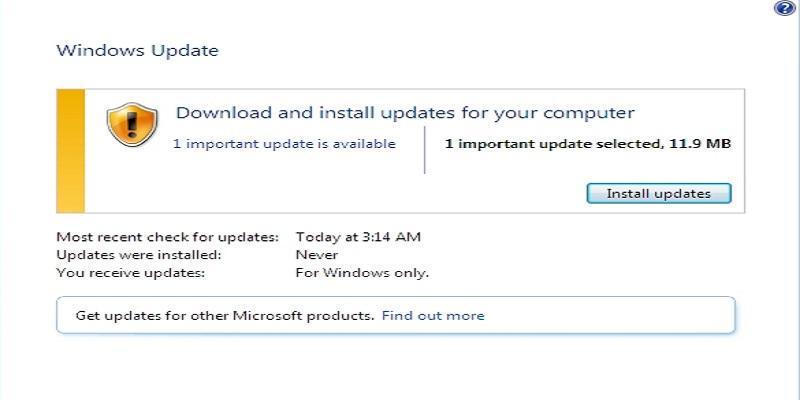 Windows 7 update without antivirus
