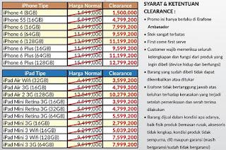 Clearance Sale iPhone dan iPad di Erafone harga mulai Rp 1.5 juta
