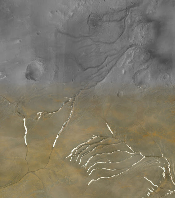 Early Mars was covered in ice sheets, not flowing rivers