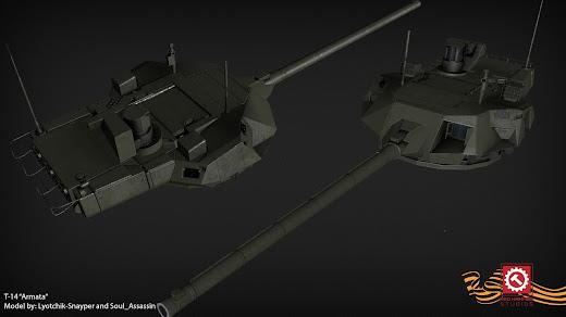 Arma3用現代軍MODのT-14 Armata 主力戦車