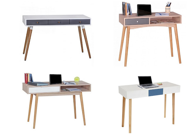 Mesas de escritorio estilo nórdico