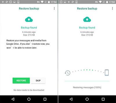 Cara backup dan restore chat whatsapp dengan googledrive