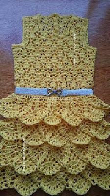 Receita De Crochê Infantil Vestido Infantil Em Crochê