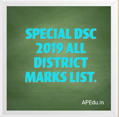 SPECIAL DSC 2019 ALL DISTRICT  MARKS LIST.