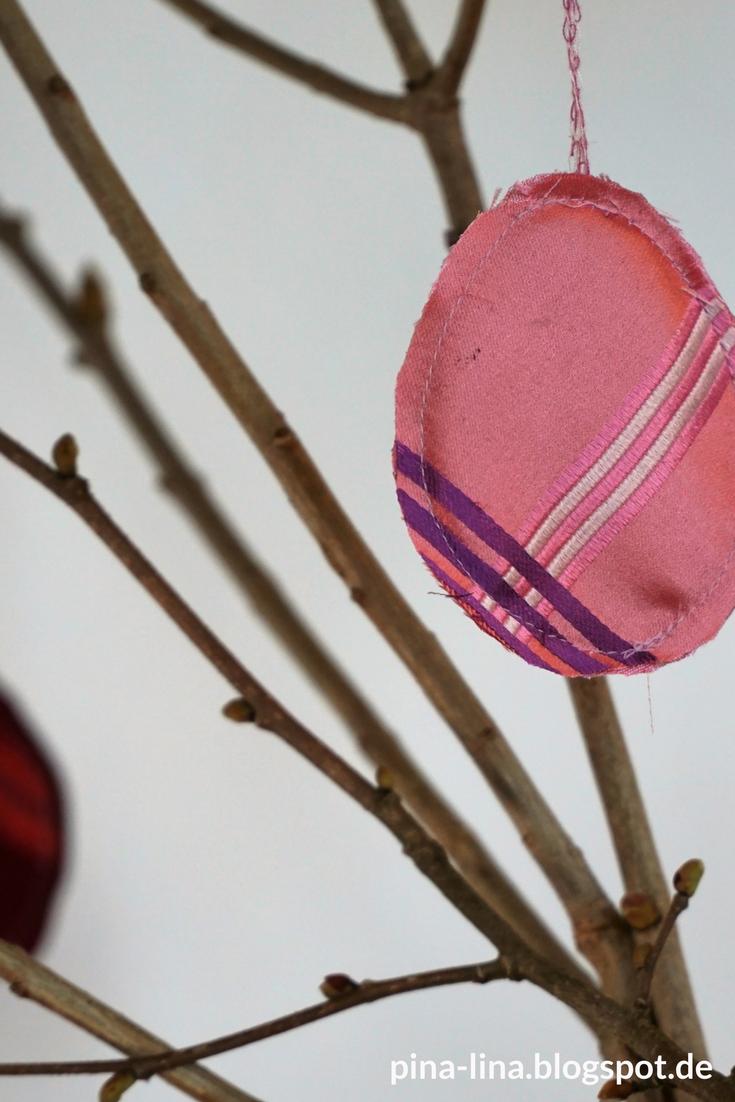 Nähen für Ostern - Anhänger aus alten Krawatten