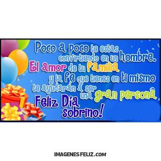 Feliz Cumpleaños Sobrino