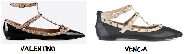 Clon zapatos Valentino Venca