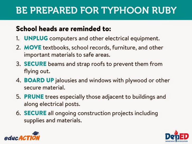 Be prepared for Typhoon Ruby
