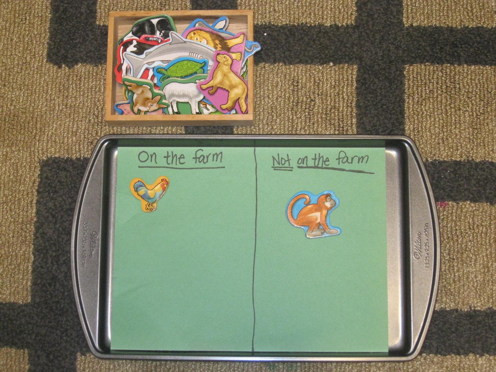 The Preschool Experiment Farm Theme Tot Trays