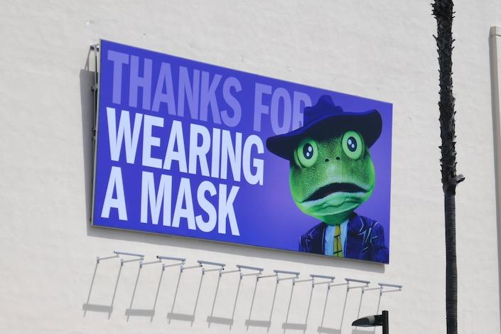 Thanks wearing a mask Masked Singer billboard