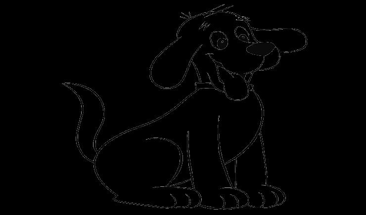 22+ Gambar anjing untuk mewarnai terbaru