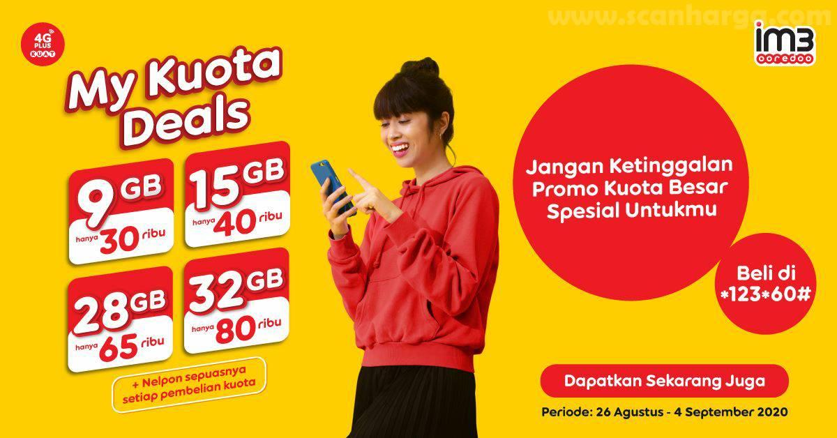 Promo Indosat IM3 Ooredoo Promo Paket Kuota Besar hanya di My Kuota Deals!