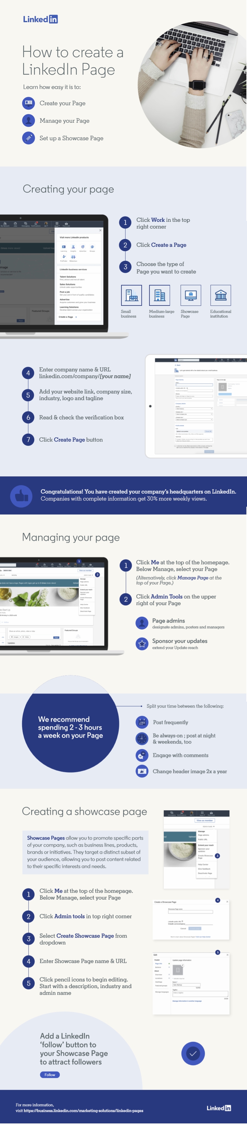 Guide to Create Linkedin Business Page #infographic