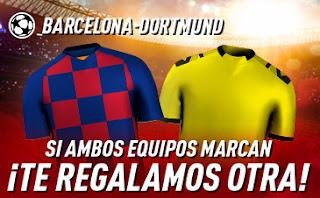 sportium promo Champions Barcelona vs Dortmund 27 noviembre 2019