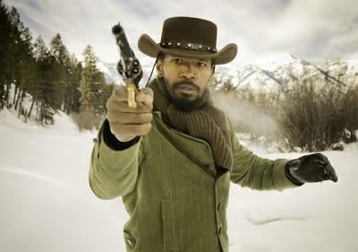 Jamie Foxx as Django in Django Unchained, Directed by Quentin Tarantino