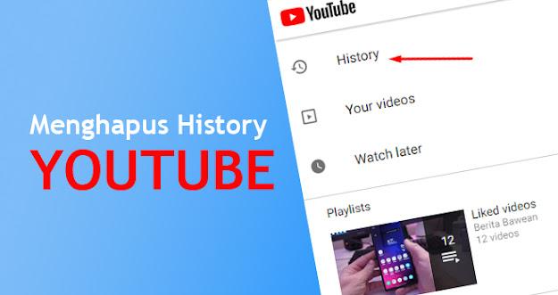 Cara Menghapus History Pencarian Youtube  Di HP Android
