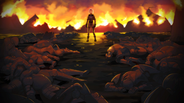 Fire Emblem Three Houses Tragedy of Duscur Dimitri flashback painting art