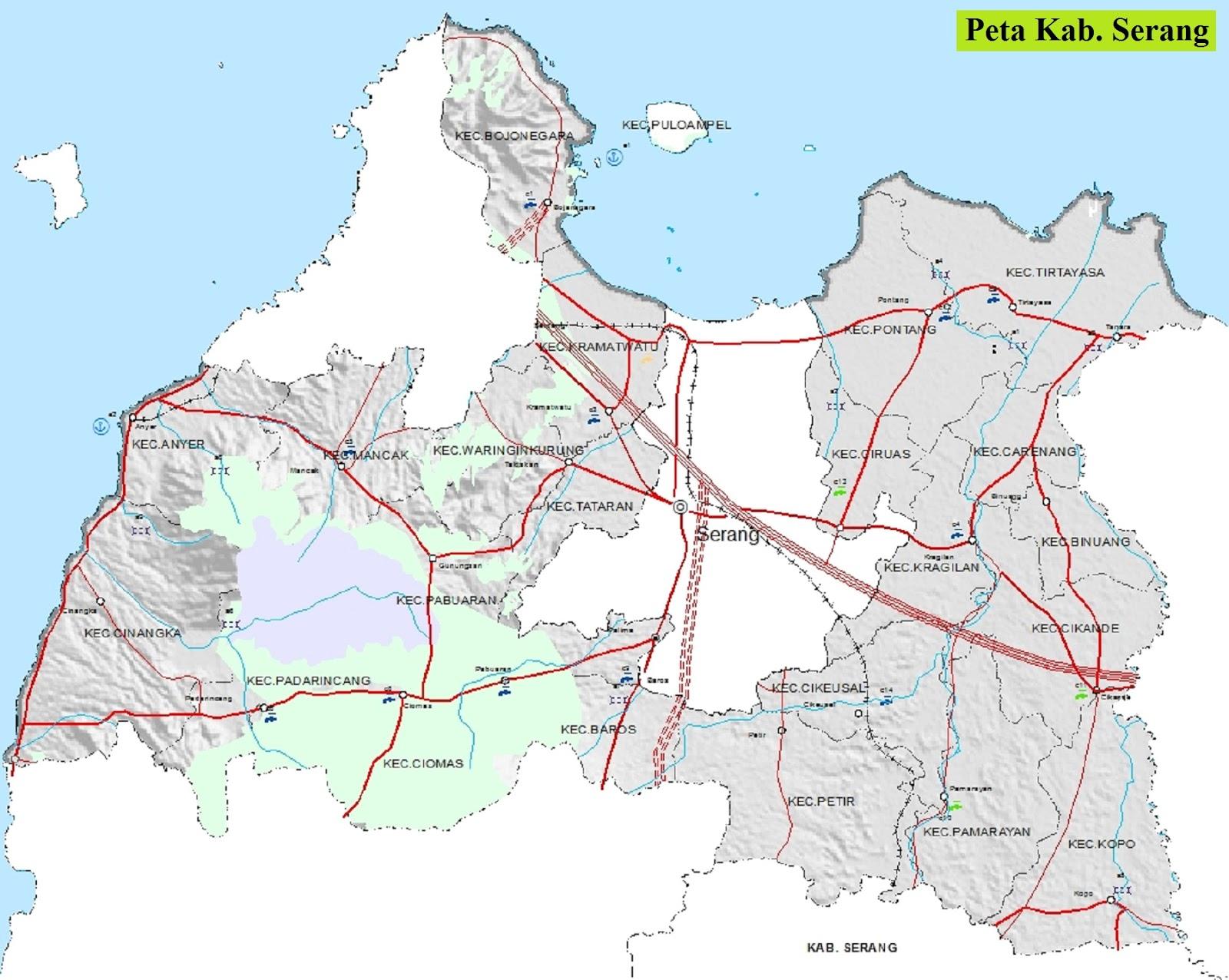 Peta Kabupaten Serang HD
