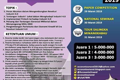 Lomba Paper Andalas Accounting National Events 2019 Mahasiswa