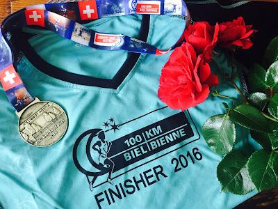running Biel finisher shirt medal