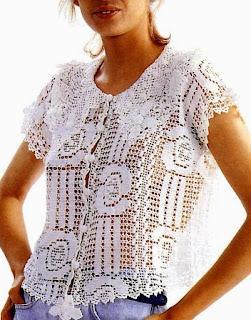 bluzeczka filet darmowy wzor