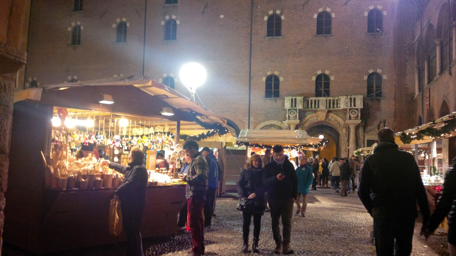 Stalls at the Christmas market in Verona