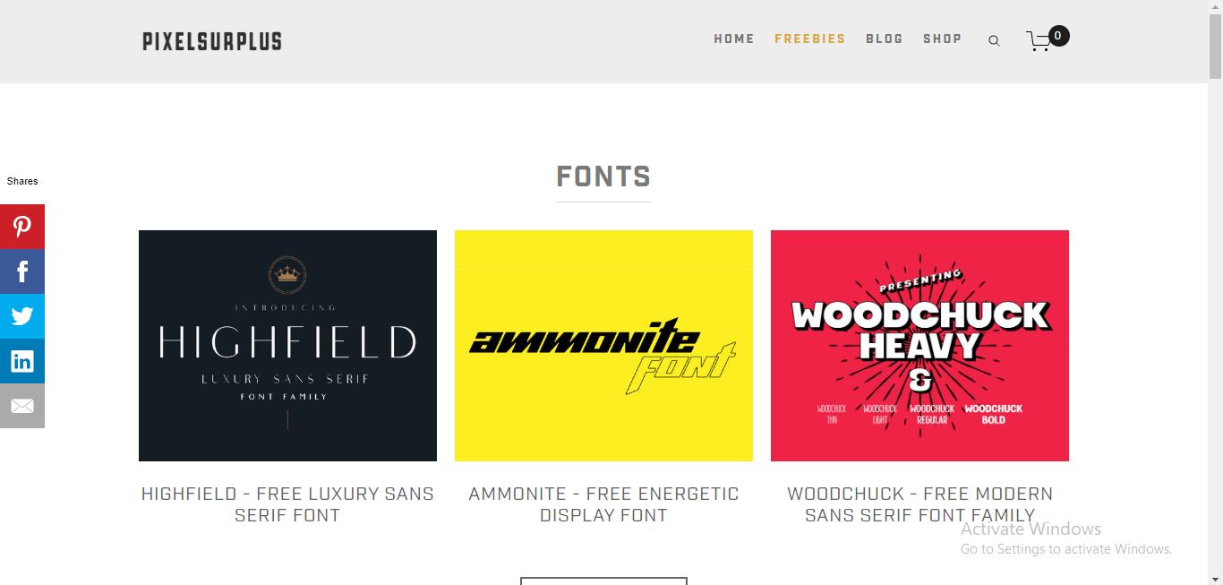 pixelsurplus-best font websites
