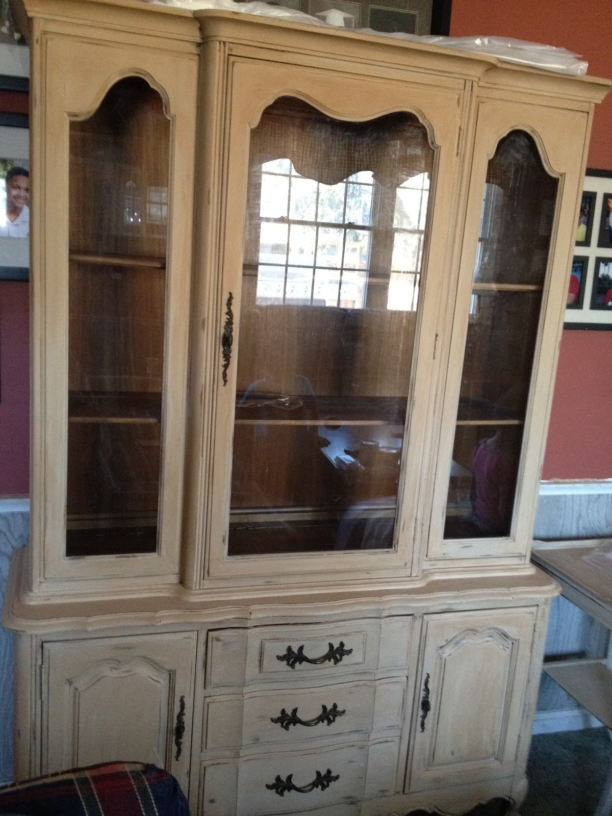 Nerney Dressers French Country Chalk Painted china cabinet