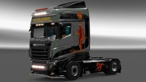 Scania R700 In Flame skin mod by Cruise
