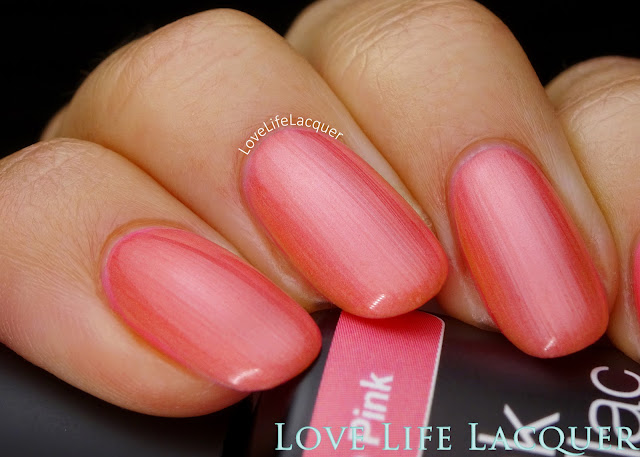 Pink Gellac VIP collection swatches Flamingo Pink
