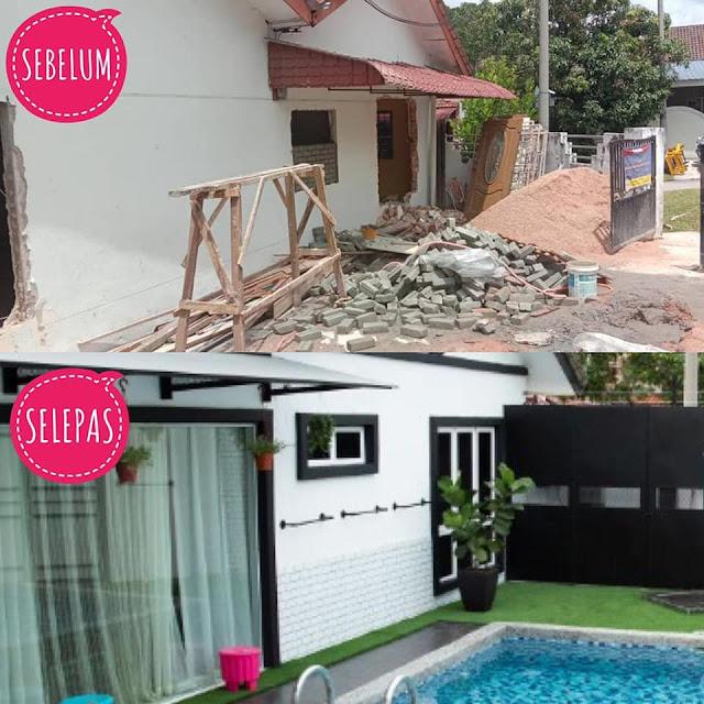 Gambar pembinaan Swimming Pool di Ziyad Stellar Guest House Melaka
