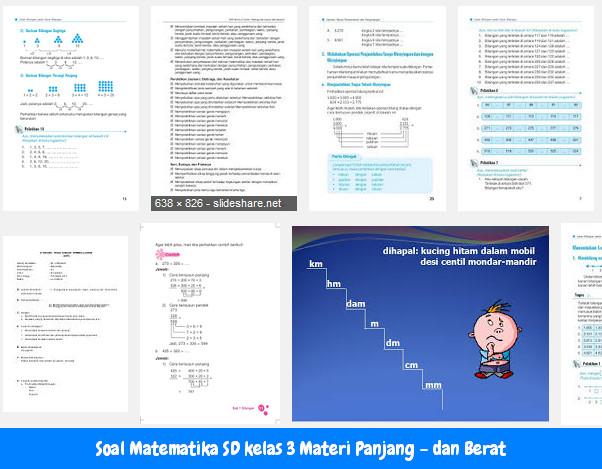 Soal Matematika SD kelas 3 Materi Panjang – dan Berat