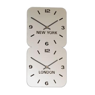6b2e57931abe43 Deze klokken worden in één bewerking met de lasersnijmachine uit een plaat  acryl gesneden. Door de openingen kijk je tegen de achterplaat aan waardoor  een ...
