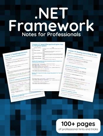 DotNET Framework Notes For Professionals