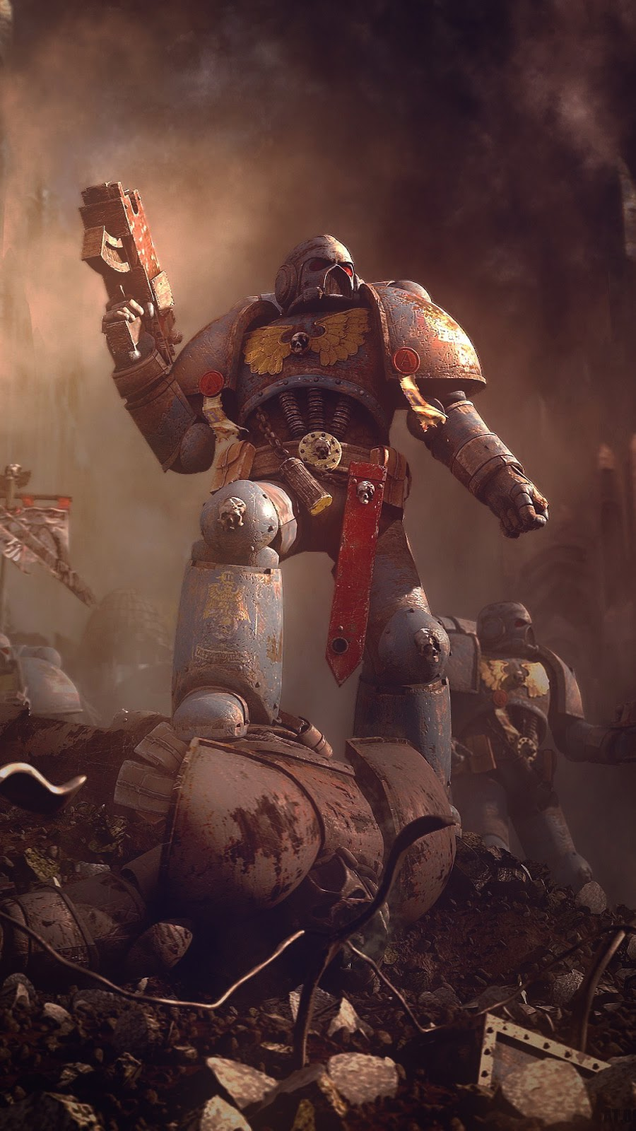 Robot warrior wallpaper 1080x1920