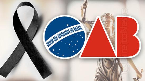 oab dia nacional luto advocacia brasileira