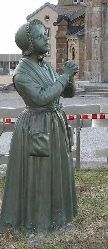 Mélanie, imagem no santuário de La Salette