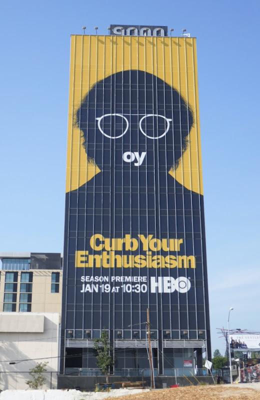 Giant Curb Your Enthusiasm season 10 billboard