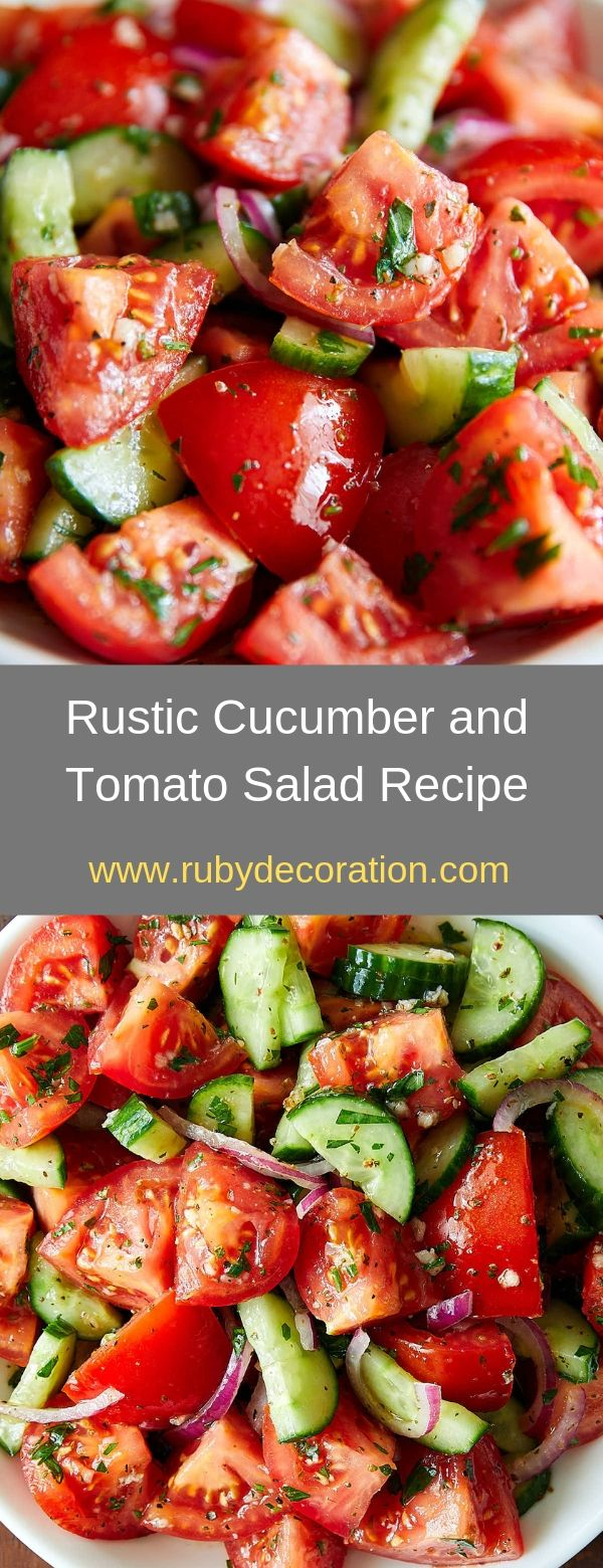 Rustic Cucumber and Tomato Salad Recipe