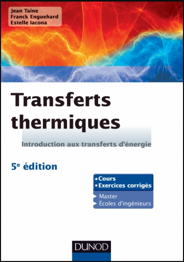 Livre : Transferts thermiques - Introduction aux transferts d'énergie PDF