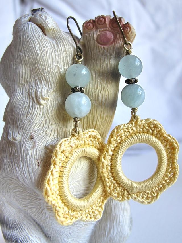 DIY: oorbellen met gehaakte hanger/earrings with crocheted pendants