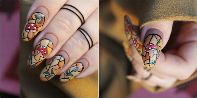 Witrażowe paznokcie