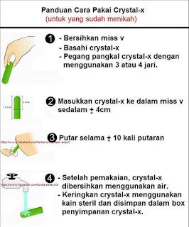 Cara Pakai Crystal X