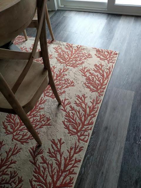 coral rug