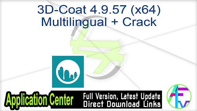 3D-Coat 4.9.57 (x64) Multilingual + Crack