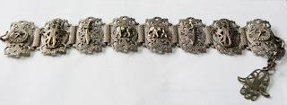 Egyptian bracelet in silver